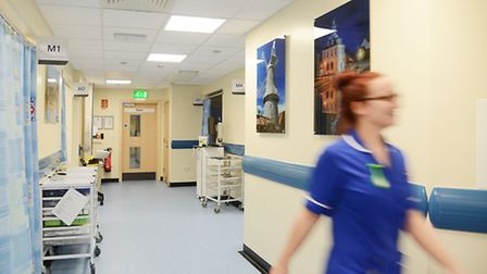 Inside the new A&E department at the Queen Elizabeth Hospital, King's Lynn. Picture: Ian Burt