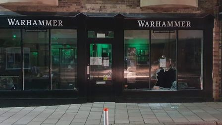 A 16-year-old has been arrested following a break-in at the Warhammer shop in Bury St Edmunds. Pictu