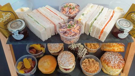 Afternoon tea from Peanut Parties in Suffolk - available for delivery within 12 miles of Woodbridge