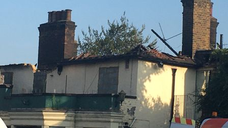 The pub was gutted by fire in the early hours of Sunday, September 20. Picture: Lindsay Jones