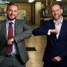 From left, Jonathan Prince (Allica Bank) with Glazing Vision managing director Jon Shooter Picture: