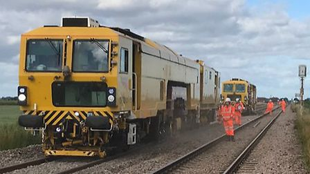 Network Rail has replaced four miles of track between Ipswich and Bury St Edmunds. Picture: NETWORK