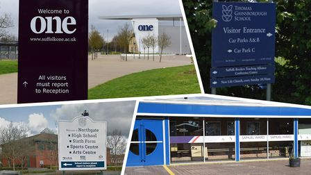 The Suffolk schools and colleges which have reported positive cases of Covid-19. Picture: SARAH LUCY BROWN/CHARLOTTE...