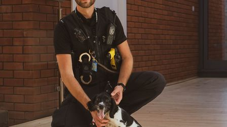 PC Stuart Watson with PPD Remus, who will join PD Hera to help fight crime Picture: SUFFOLK POLICE