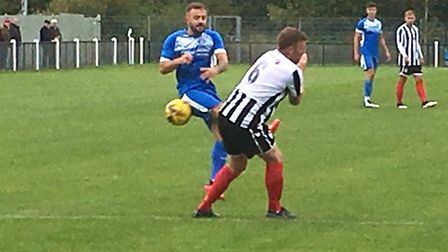 Dylan Switters, who broke the deadlock in Leiston's 2-2 draw against AFC Rushden & Diamonds in the S