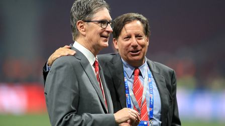 Liverpool owner John W. Henry (left) and chairman Tom Werner. Photo: PA