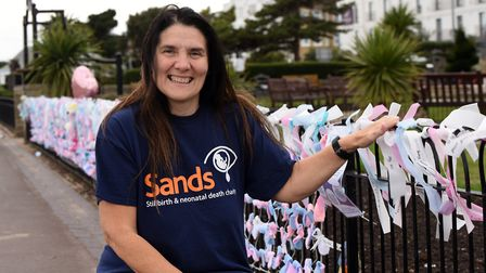 Maria Gormley from Clacton has created a display for baby loss awareness week in memory of her daughter Laura Picture...