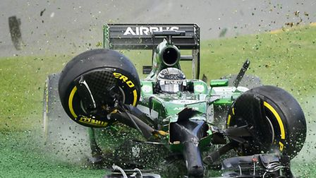 Kamui Kobayashi lights up the start of the Formula One season - although probably not in the way he