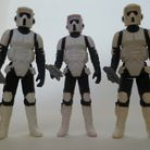 Stormtrooper collectables in the May the Toys Be with You exhibition. Picture: TIME & TIDE EXHIBITIO