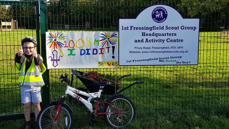 Elliot Walker, aged 7, helped to raise over £800 to help the scouts Picture: 1ST FRESSINGFIELD SCOUT