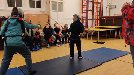 Fressingfield Scouts enjoying fencing Picture: 1ST FRESSINGFIELD SCOUTS