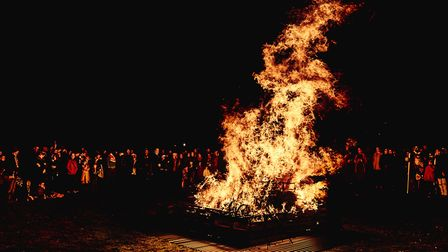 The Pyre Parade where the residents of Ipswich burn their bad news in a huge bonfire in Christchurch