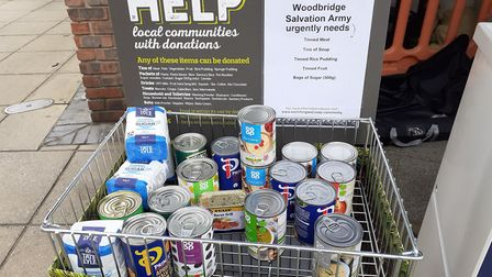 Shoppers at the Woodbridge Co-op store donating to the Holiday Hunger campaign over sumer. Picture: EAST OF ENGLAND...
