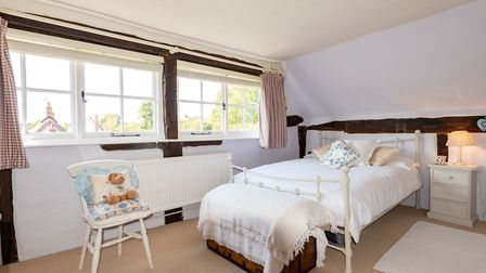 This three-bedroom, Grade II listed cottage in Chelsworth is for sale at a guide price of £750,000. Picture: Chapman Stickels