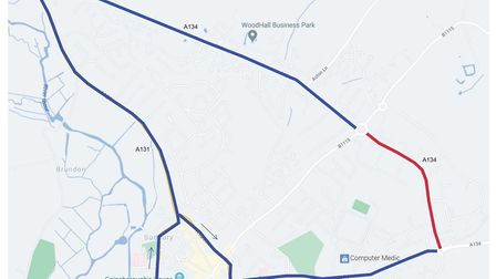 Suffolk Highways have advised of alternate routes during the Northern Road resurfacing works planned