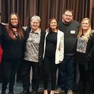 Heart patients pictured with professionals helped by The Somerville Foundation at an event before th