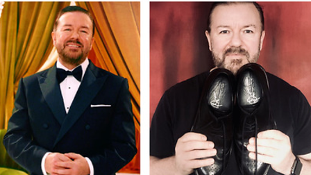 Ricky Gervais donated a pair of shoes that he wore to this year's Golden Globes.