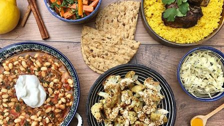 Iranian style dishes from Earsham Street Cafe, Bungay Picture: Earsham Street Cafe