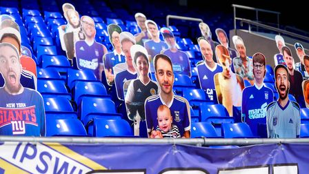 The only fans at Portman Road so far this season have been cardboard cut-outs Picture: STEVE WALLER