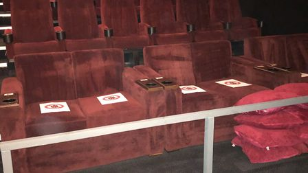 Socially-distanced seats - all part of the new cinema experience Picture: Abbeygate Cinema
