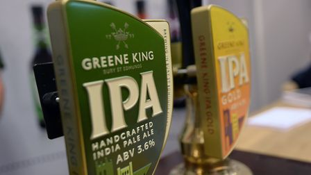File photo dated 23/10/14 of a Greene King beer tap. The UK pub group and brewer Greene King has agreed a ??2.7 billion sale ...
