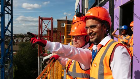 Hard-hatted mayor views new Stepney housing scheme to cut Tower Hamlets waiting list in January 2020