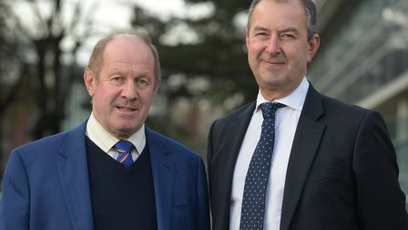 Tim Passmore, Conservative Suffolk Police and Crime Commissioner (left) and Chief Constable Steve Ju