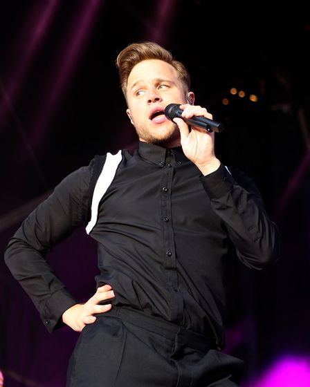 Olly Murs performing at Colchester Community Stadium. Picture: SEANA HUGHES
