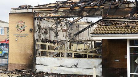 The aftermath of the fire at Downham Market Fire Station. Picture: Ian Burt