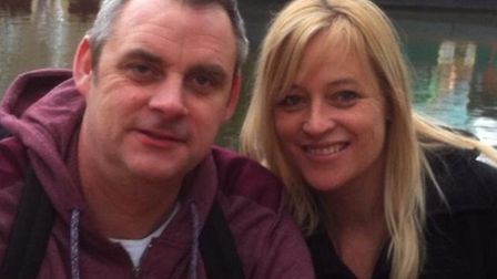 Simon Dobbin with his wife Nicole Picture: CONTRIBUTED