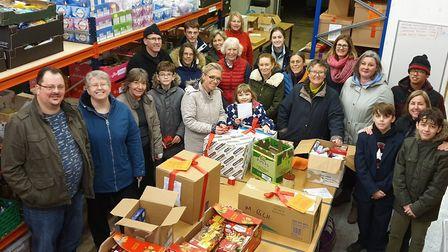 Behind the scenes with the staff at Haverhill Foodbank in a previous year Picture: Haverhill Foodban