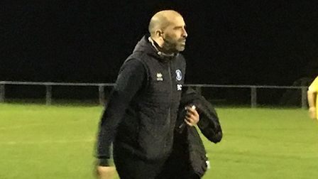 Bury Town manager Ben Chenery, looking forward to his side's FA Cup tie at Banbury United.,