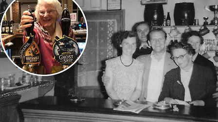 Betty French celebrated her 90th birthday back at the Red Lion, where she used to pull pints when she was just 16 years old.