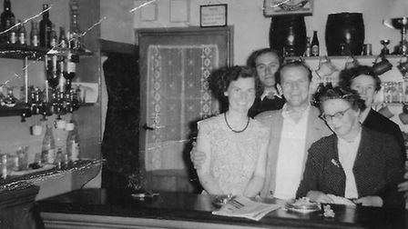 Betty French (front left) with her mum Ruby French (front right) at the Red Lion pub back in the 50s. Picture: FRENCH FAMILY