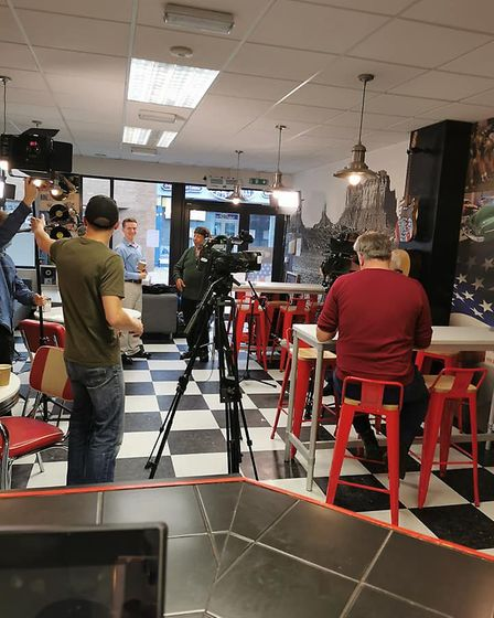 The One Show crews were at Route 66 American diner in Haverhill to film an episode at the weekend. Picture: ROUTE 66