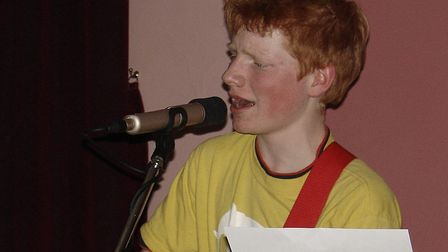 A young Ed Sheeran performing at one of his first ever gigs Picture: John and Imogen Sheeran