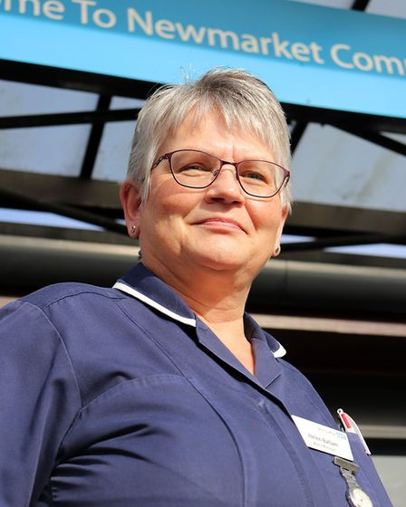 Rosemary Ward manager Helen Ballam outside Newmarket HospitalPicture: JAMES GOFFIN/WEST SUFFOLK NHS
