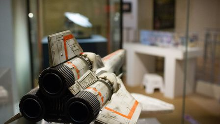 One of Galactica's spaceships at the 12thSci-fi and Action Exhibition at Moyses Hall Museum Photo: