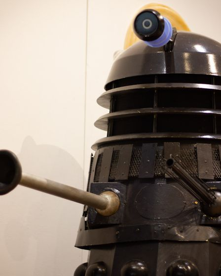 A classic Dalek from the Tom Baker years of Doctor Who on display at the Sci-fi and Action Exhibitio