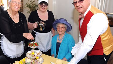 A special afternoon tea, Palm Court style is held at the Jubilee Halls in Starston to raise money fo