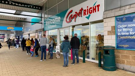 Shoppers came out to get Christmas presents at Smyths toys store at Anglia Retail Park following the Prime Minister's...