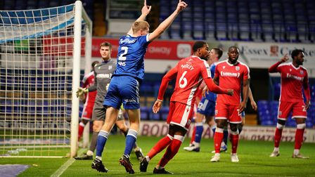 Mark McGuinness appeals during the Gillingham game Picture: STEVE WALLER