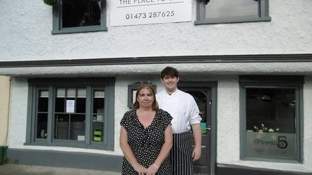 Mother and son team Tina Leamon and James Leamon from The Grill at Twenty5 have been giving away hot