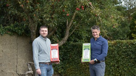 From left, Daniel Masters, managing director of Naturediet and Tim Hansell, chief executive of Skinn