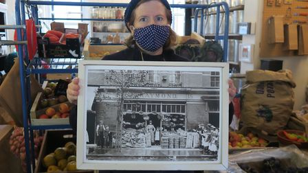 In her greengrocer's that first opened 120 years ago. Picture: Mike Brooke