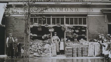 The greengrocer's in Calvert Avenue when it first opened around 1900