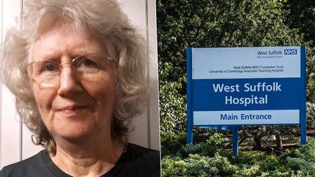 Patients like Julia Clark have been trialling the new digital portal scheme at West Suffolk Hospital