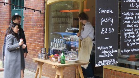 Personal cafe sevice along Calvert Avenue. Picture: Mike Brooke