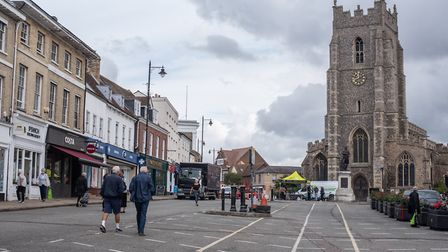 Sudbury town centre. Picture: SARAH LUCY BROWN