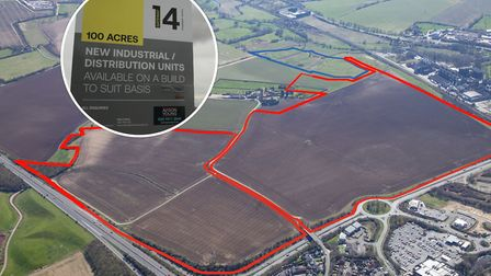 The Gateway 14 business park off the A14 at Stowmarket could take 10 to 15 years to be completed. Pi